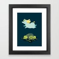 Chubbycorn Framed Art Print