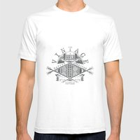 Native American Mens Fitted Tee White SMALL