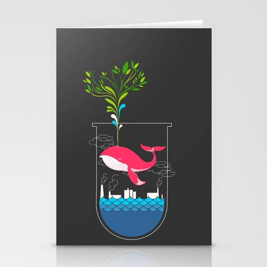 Nature Whale Stationery Card