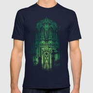 The Song Of Bats Mens Fitted Tee Navy SMALL