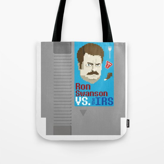 Ron Swanson VS. the IRS Tote Bag