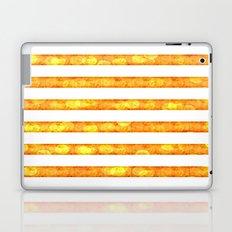 Golden Glitter Stripes Duvet Cover Laptop & iPad Skin
