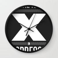 No X in Espresso – Dark Grey Wall Clock