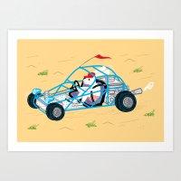 Dune Bunny Art Print