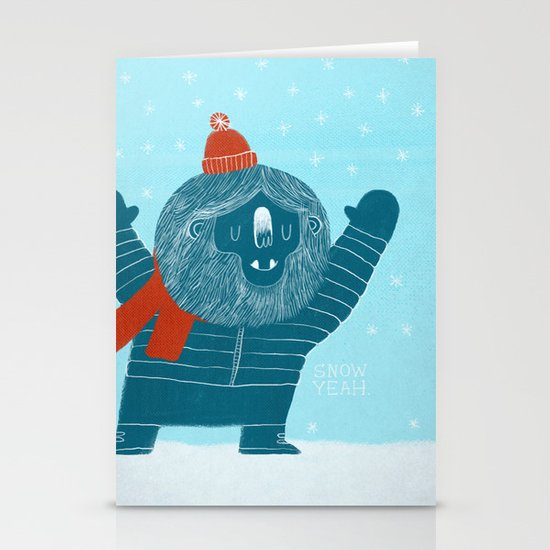 Snow Yeah Stationery Card