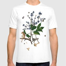 Monkey World: Apy and Vinnie Mens Fitted Tee SMALL White