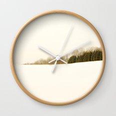 Field of snow Wall Clock