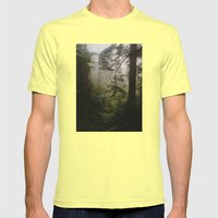 Foggy Forest Mens Fitted Tee Lemon SMALL