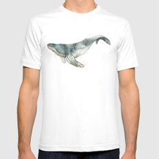 Humpback Whale SMALL Mens Fitted Tee White