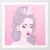 Selfie Girl_9 Art Print
