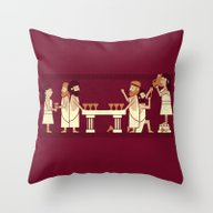 Throw Pillow featuring Toga Party by Teo Zirinis