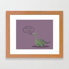 Dinophobia Framed Art Print