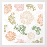 Ginkgo Floral Art Print