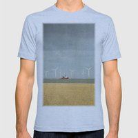 Scroby Sands Wind Farm, Great Yarmouth Mens Fitted Tee Athletic Blue SMALL