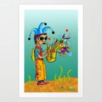 SaxoFunk Art Print