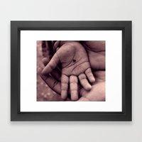 In my hand I hold... Framed Art Print