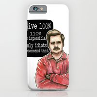 iPhone & iPod Case featuring Ron Swanson by Tiffany Willis