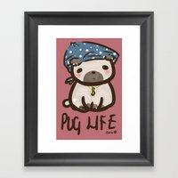 'Pug Life' Framed Art Print