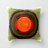 Big Red Button Throw Pillow