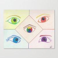 Prismatic Eyes Canvas Print