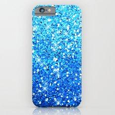 Blue Glitters Sparkles Texture iPhone 6 Slim Case