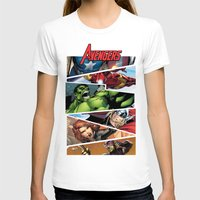 THE.AVENGERS  Womens Fitted Tee White SMALL