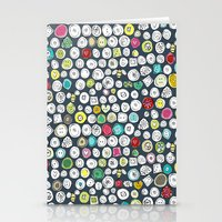buttons and bees slate Stationery Cards