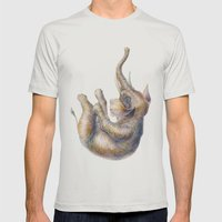 Falling Elephant Mens Fitted Tee Silver SMALL