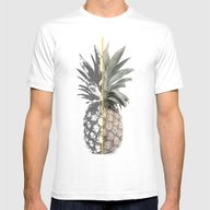 Double Pineapple Mens Fitted Tee White SMALL