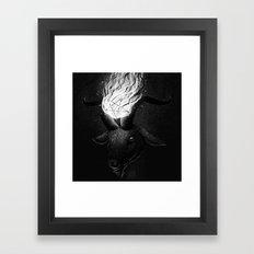 Drawlloween 2015: Devil Framed Art Print