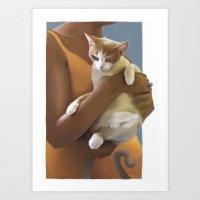 Kitten, Defeeted Art Print