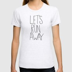 Let's Run Away: Cannon B… Womens Fitted Tee Ash Grey SMALL
