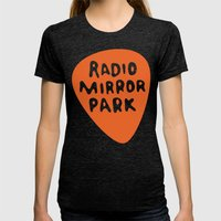 Radio Mirror Park Womens Fitted Tee Tri-Black SMALL