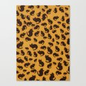 Too many kitties Leopard print Canvas Print