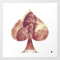 Lemmy Kilmister / Motör… Art Print