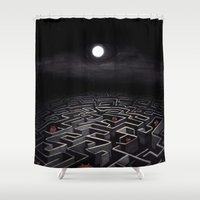 Labyrinth  Shower Curtain