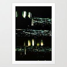 Los Angeles through a pinhole Art Print