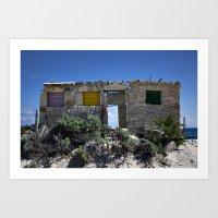 Beach Ruins Art Print