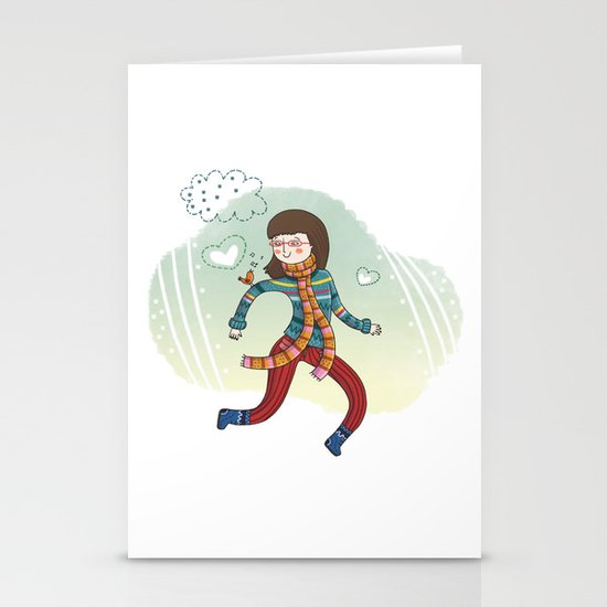 MY LITTLE FRIEND Stationery Card