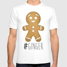 #Ginger Mens Fitted Tee White SMALL