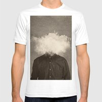 Head In the clouds Mens Fitted Tee White SMALL