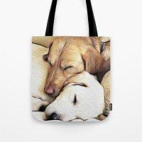 Let Sleeping Dogs Lie Tote Bag