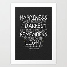 Dumbleism - Dumbledore Quote 2 Art Print