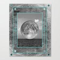 Oceano.Luna Canvas Print