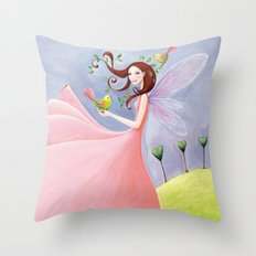 nature awakening Throw Pillow