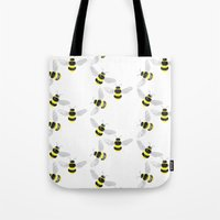 Fuzzy Bumblebees Tote Bag