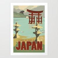 Kaiju Travel Poster Art Print