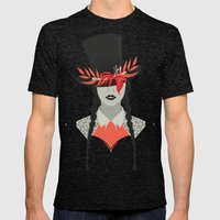 Lady in Hat Mens Fitted Tee Tri-Black SMALL