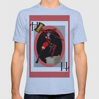 HARLEY QUINN Mens Fitted Tee Athletic Blue SMALL