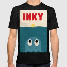 INKY Mens Fitted Tee Tri-Black SMALL